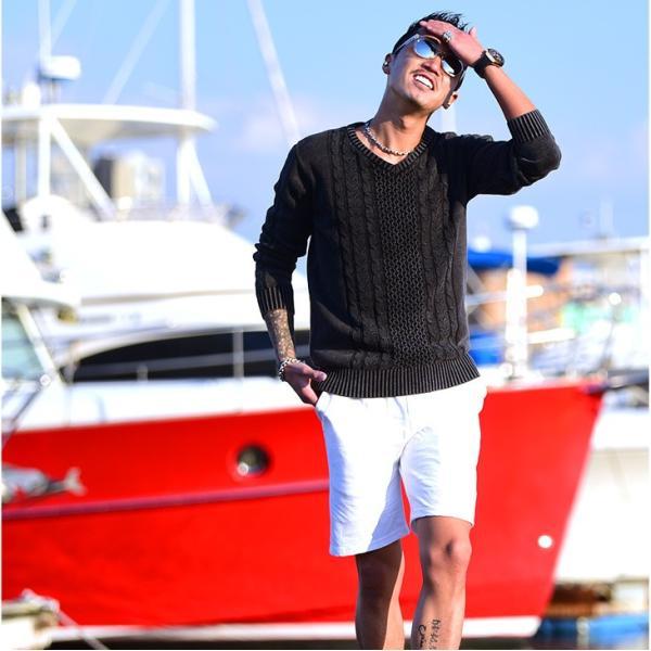 セットアップ メンズ 上下 オープンカラーシャツ 開襟シャツ カラー オープン シャツ 半袖 ショート パンツ ショートパンツ  ハーフパンツ evergreen92 07