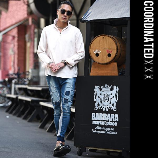 シャツ 長袖 メンズ おしゃれ 夏 無地 カジュアル プルオーバー 七分袖 7分袖 カプリシャツ 白シャツ コットンシャツ ボタニカル 総柄|evergreen92|13