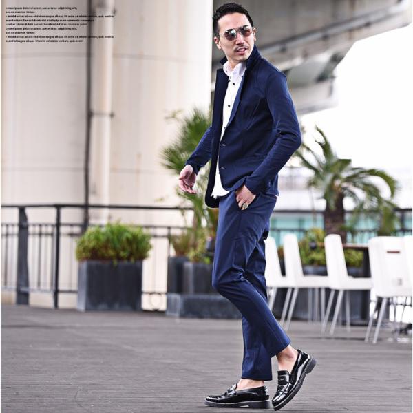 セットアップ メンズ ジャージ スーツ テーラード イタリアンカラージャケット カジュアルスーツ アンクル パンツ XL  送料無料 evergreen92 12