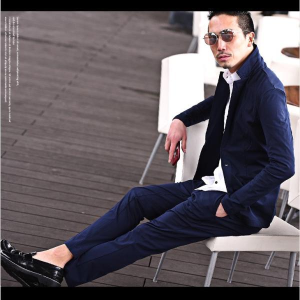 セットアップ メンズ ジャージ スーツ テーラード イタリアンカラージャケット カジュアルスーツ アンクル パンツ XL  送料無料 evergreen92 13