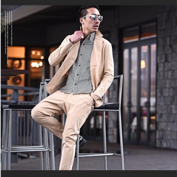 セットアップ メンズ ジャージ スーツ テーラード イタリアンカラージャケット カジュアルスーツ アンクル パンツ XL  送料無料 evergreen92 10