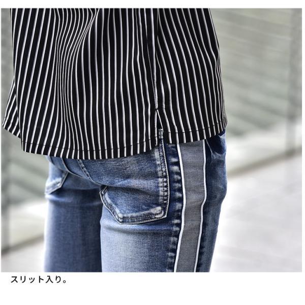 開襟シャツ シャツ メンズ 長袖シャツ 長袖 オープンシャツ オープンカラーシャツ ストレッチ カラーシャツ LL 開襟 Yシャツ 物|evergreen92|19