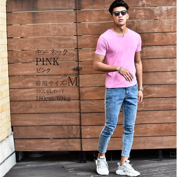 Tシャツ メンズ 半袖 ヘンリーネック tシャツ 無地 キーネック 半袖tシャツ 大きいサイズ トップス  夏 スリム LL|evergreen92|11