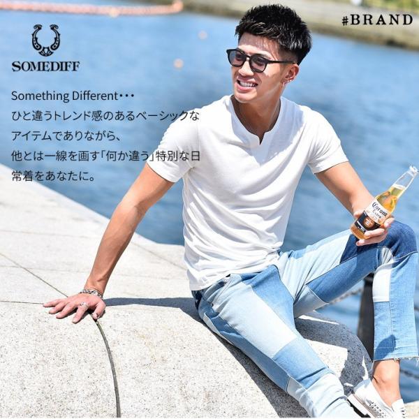 Tシャツ メンズ 半袖 ヘンリーネック tシャツ 無地 キーネック 半袖tシャツ 大きいサイズ トップス  夏 スリム LL|evergreen92|03