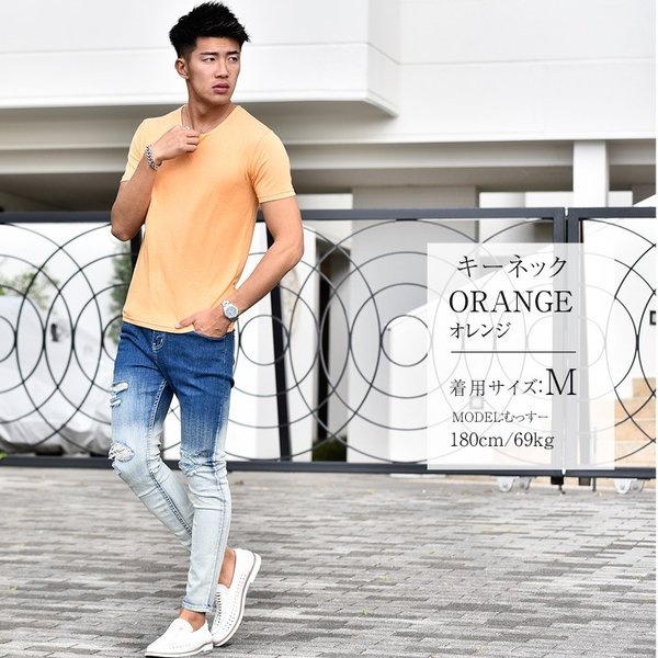 Tシャツ メンズ 半袖 ヘンリーネック tシャツ 無地 キーネック 半袖tシャツ 大きいサイズ トップス  夏 スリム LL|evergreen92|05