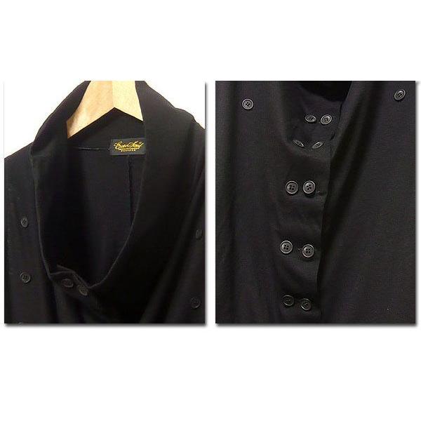 ロングベスト メンズ ベスト サロン系 メンズベスト 黒 ブラック ビジュアル系 ジレ|eversoul|04