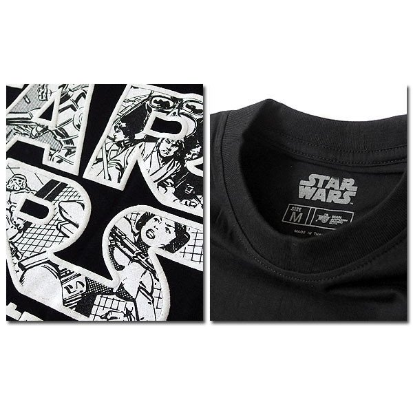 スターウォーズ Tシャツ メンズ 半袖 STARWARS ブラック 黒 レッド 赤 プリント キャラクター グッズ ダースベイダー ロゴ|eversoul|07