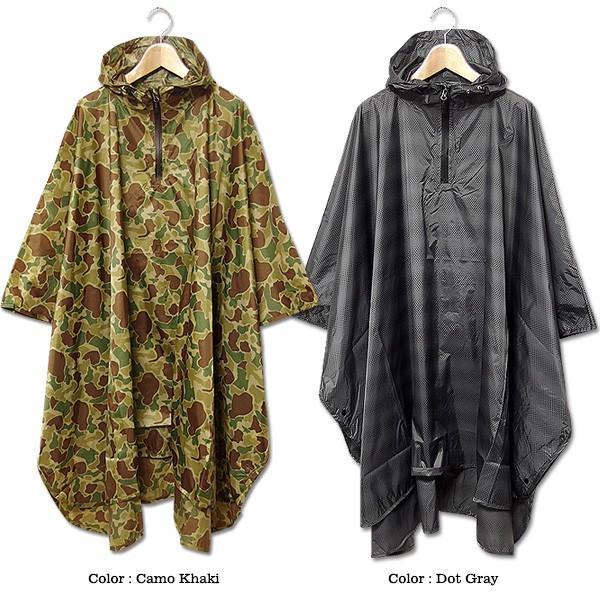 ポンチョ レインコート メンズ マント レインポンチョ 雨具 アウトドア おしゃれ 雨合羽 カッパ  キャンプ|eversoul|04