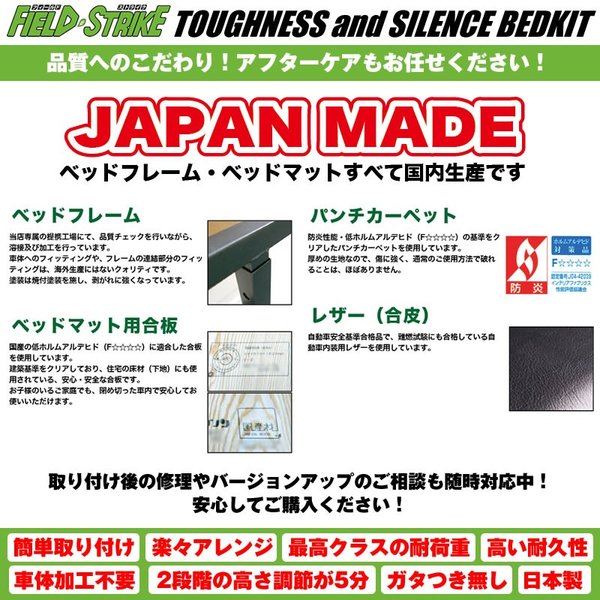 【硬質マットタイプ/防滑シードグレー】Field Strike フルサイズ ベッドキット 新型 エブリイワゴンDA17W (H27/2-) 長さ1580mm|everyparts|08