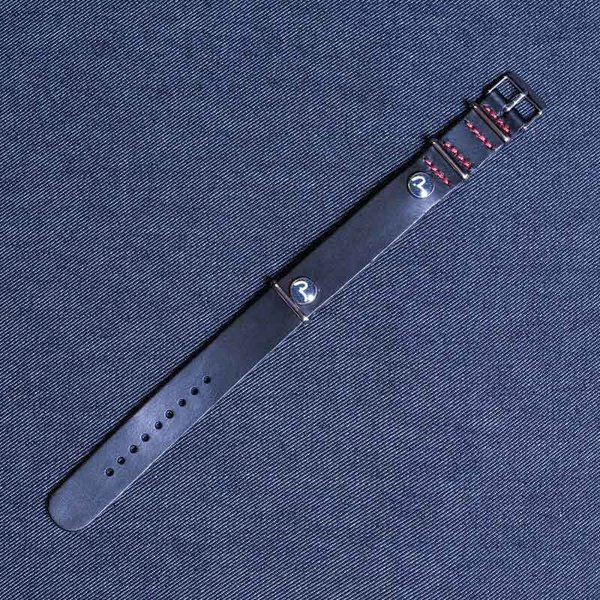 EVISU WATCH BELT (BLACK/RED STITCH)/EVISUジーンズ