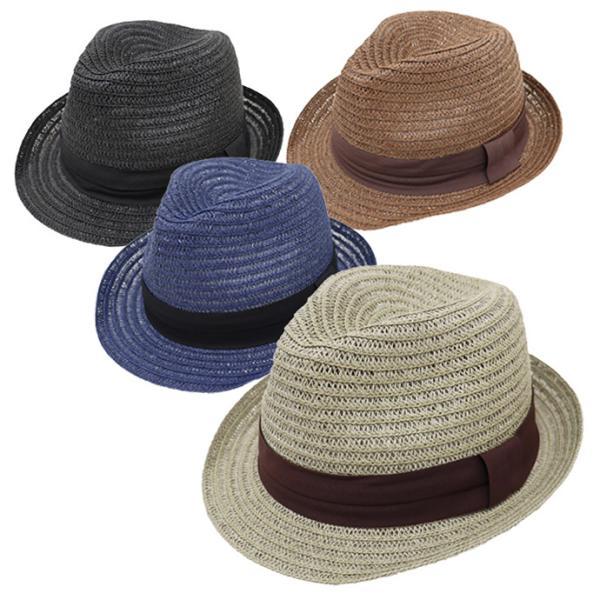 麦わら帽子 メンズ 大きいサイズ ストローハット 65cm 61cm ブレードペーパー 無地|exas