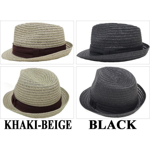 麦わら帽子 メンズ 大きいサイズ ストローハット 65cm 61cm ブレードペーパー 無地|exas|03