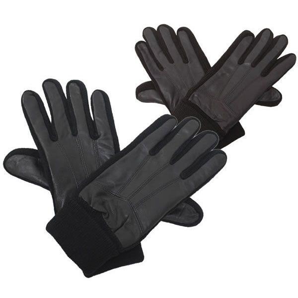 手袋 メンズ レザー シープスキン&ニット紳士手袋 ネコポス対応 全国送料無料
