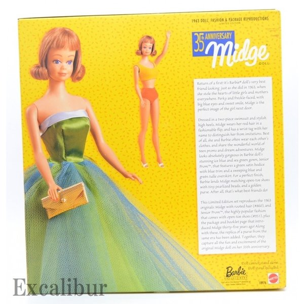 【バービー在庫処分】ミッヂ(ミッジ)復刻版 35周年記念 バービー 35th Anniversary Midge|excalibur|02