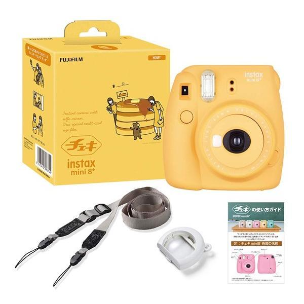 フジフイルム インスタントカメラ instax mini 8+ 「チェキ」ハニーの画像