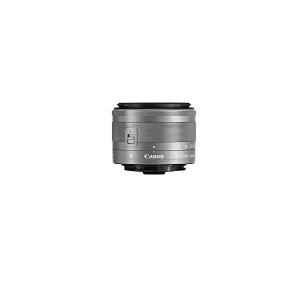 Canon★EF-M15-45mm F3.5-6.3 IS STM シルバー★訳あり●新品