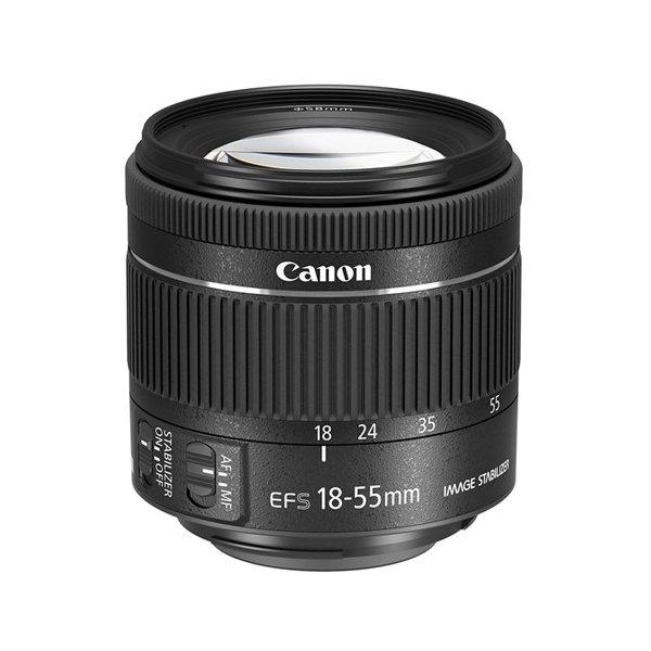 【キャッシュレスで5%還元】【中古】Canon 標準ズームレンズ EF-S18-55mm F4-5.6 IS STM 欠品あり 未使用