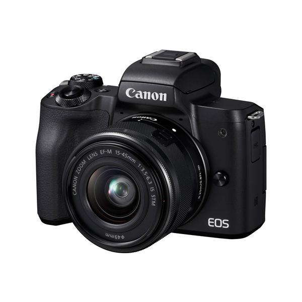 Canon製 ミラーレス一眼カメラ EOS Kiss M EF-M15-45 IS STM レンズキット ブラック 元箱あり
