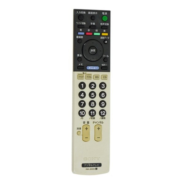 SONY テレビリモコン RM-JD005 電池カバーなし