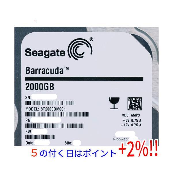 SEAGATE製HDD ST2000DM001 2TB SATA600 7200
