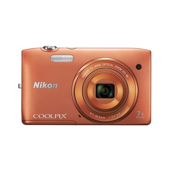Nikon製 デジカメ COOLPIX S3500 オレンジ/2005万画素