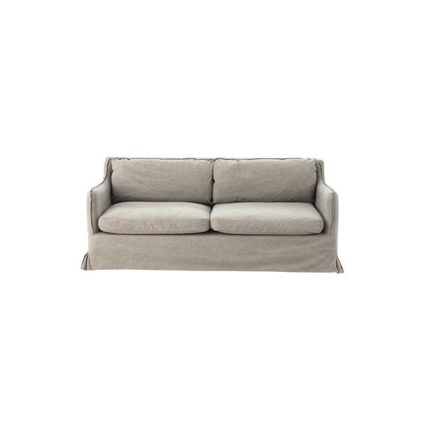 サーブル 3人掛 ソファ(グレー/灰色) 〈CL-993GY〉3P 三人用 カバーリング 椅子 ナチュラル インテリア 家具