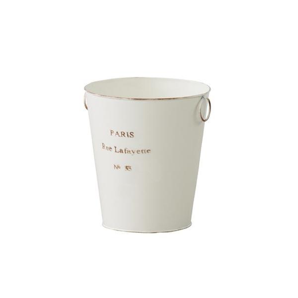 PARIS ダストボックス(アイボリー)〈LFS-426IV〉アンティーク ごみ箱 缶 バケツ 小物入れ ガーデニング ナチュラル ガーリー インテリア 雑貨 おしゃれ excellentkagu