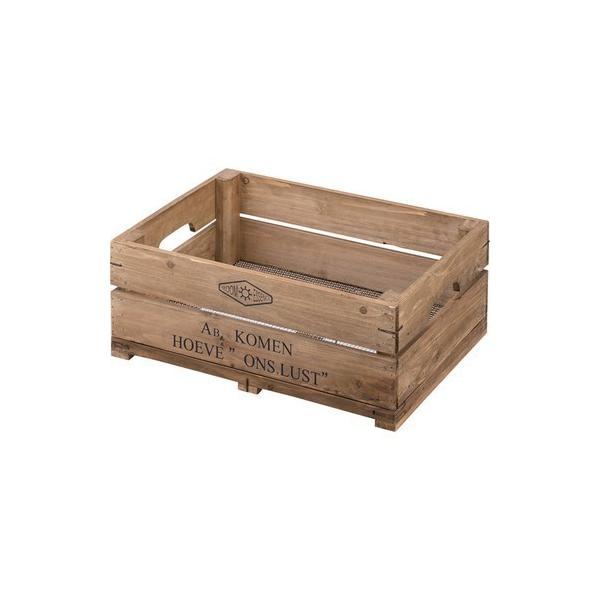 ボックス ハーフサイズ〈LFS-475〉持ち手付 木箱 スタッキング可 スタックボックス ストレージボックス 収納 インテリア 雑貨 家具 おしゃれ|excellentkagu