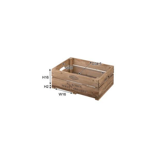 ボックス ハーフサイズ〈LFS-475〉持ち手付 木箱 スタッキング可 スタックボックス ストレージボックス 収納 インテリア 雑貨 家具 おしゃれ|excellentkagu|03