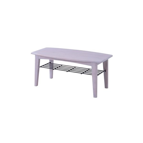 ブリジット センターテーブルS(ホワイト/白)〈PM-301WH〉ローテーブル コーヒーテーブル 座卓 マガジンラック付 リビング  家具 インテリア おしゃれ|excellentkagu
