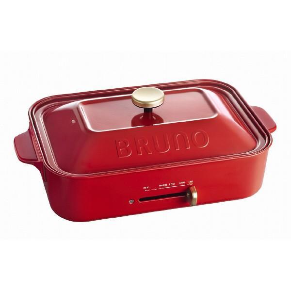 BRUNO ブルーノ コンパクトホットプレート BOE021-RD(レッド/赤) IDEA イデア 調理家電 キッチン レトロデザイン かわいい おしゃれ