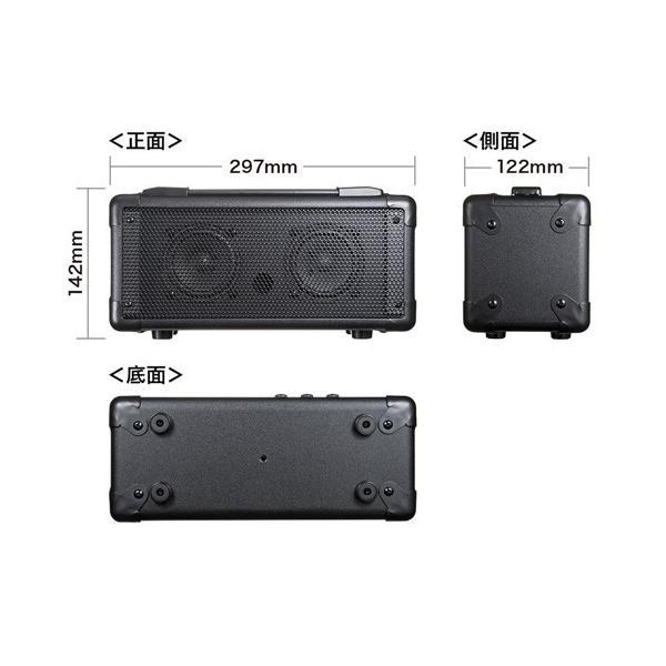 サンワサプライ MM-SPAMPBT マイク付き拡声器スピーカー