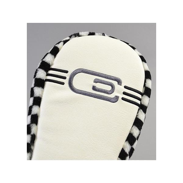 AM&E excors Reverb Racer Driver Headcover White/Checker ドライバー用|excorsgolf|02