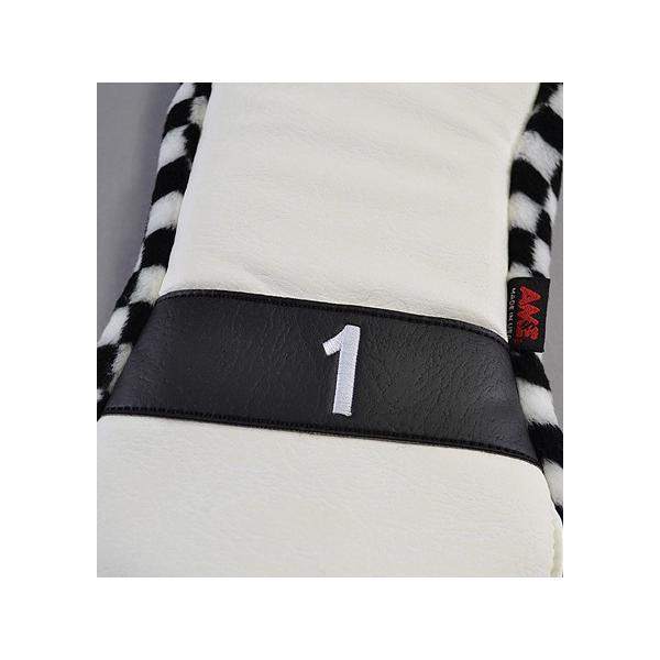 AM&E excors Reverb Racer Driver Headcover White/Checker ドライバー用|excorsgolf|03