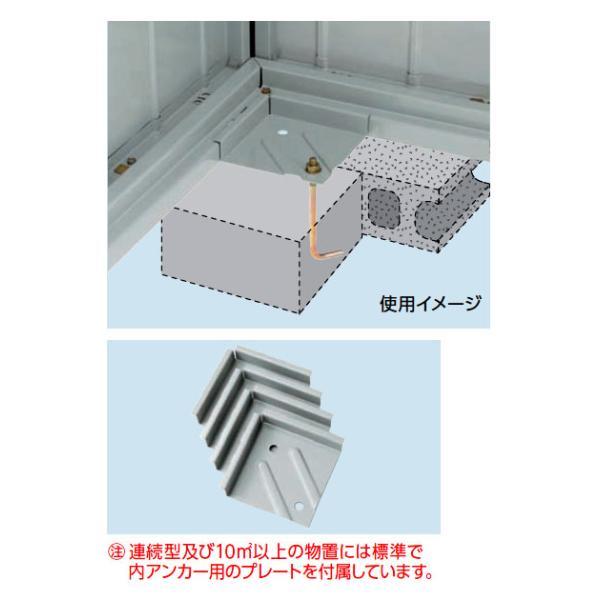 イナバ物置ネクスタオプションアンカープレートU-4個入