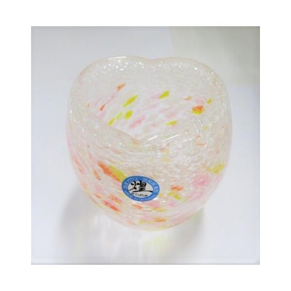 グラス 琉球ガラス タルグラス 気泡の海タルグラス(ハート) 赤 ギフト|exmart|02