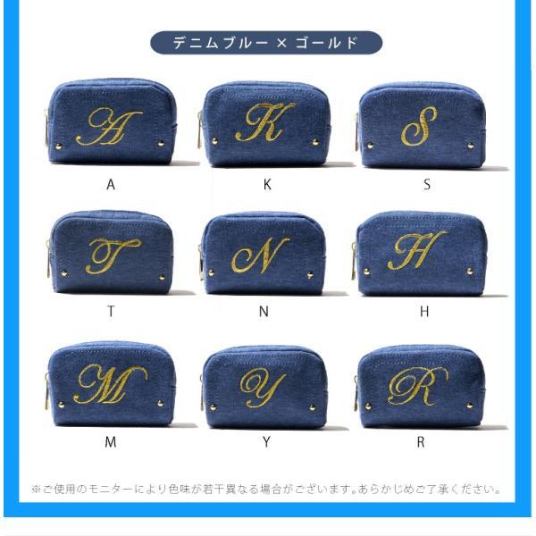 ポーチ イニシャル 刺繍 アイコス シンプル イニシャルポーチ かわいい おしゃれ|exrevo|05