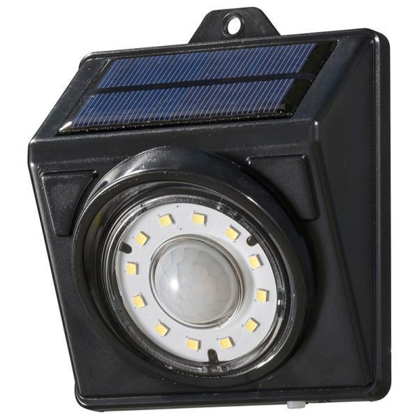 LEDセンサーウォールライト(400lm/ソーラー発電式/保護等級IP65/白色/ブラック)_06-3994_LT-SSLS40DW1_OHM(オーム電機)