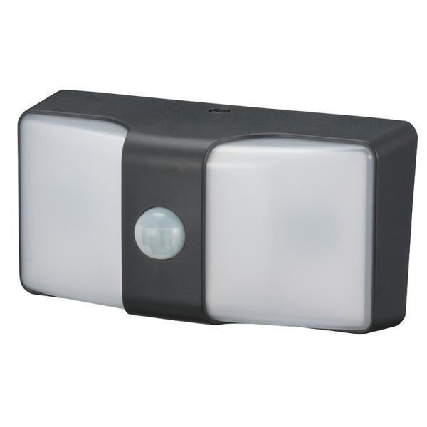 センサーウォールライト(160lm/単3形×3本使用・電池別売/白色/ブラック)_06-4211_LS-BH22J4-K_OHM オーム電機