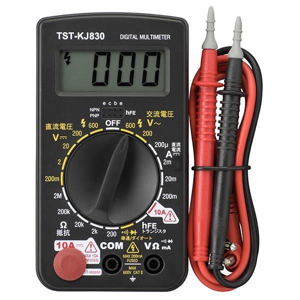 08-1288_TST-KJ830_普及型デジタルテスター_OHM オーム電機