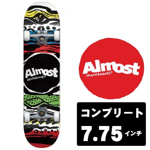 ALMOST スケートボード デッキ コンプリート セット 7.75インチ【 PRIMAL PRINT MULTI 】 スケボー オールモスト|extreme-ex