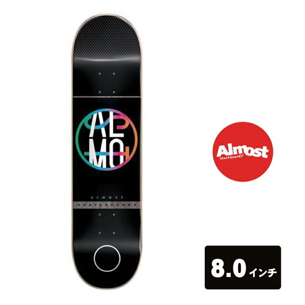 ALMOST スケートボード デッキ 8インチ 【 Color Crash Black 】 スケボー オールモスト SKATEBOARD|extreme-ex