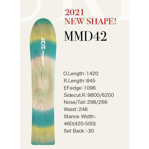 予約商品  21-22 MOSS Snowstick モススノースティック MMD エムエムディー 142 サーフライド パウダー 板 スノーボード スノボー スノボ モス 送料無料