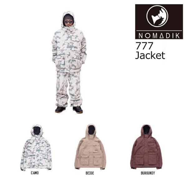 予約商品 21-22 NOMADIK ノマディック 777 Snow Wear Pant スリーセブンスノーウエア パンツ ボードウエア 正規品 スノボ 國母 和宏 工藤 洸平