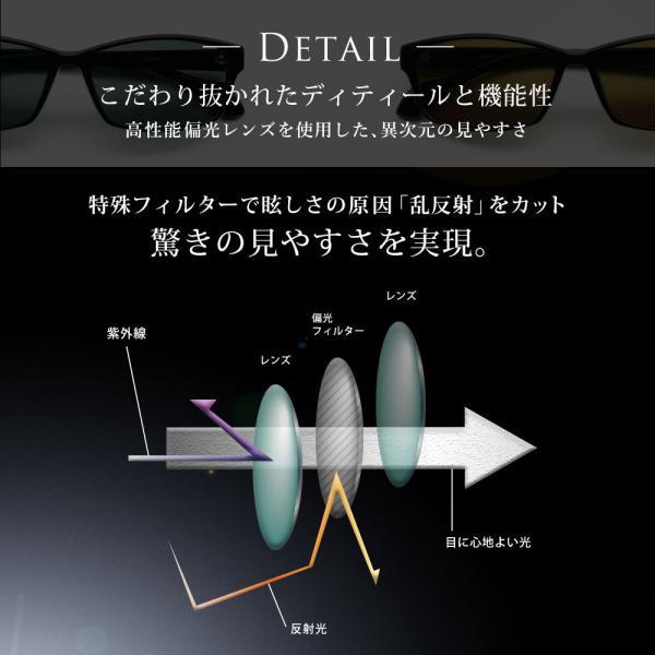 偏光サングラス メンズ UVカット サングラス 運転 釣り ケース付き|eyeforyou|03