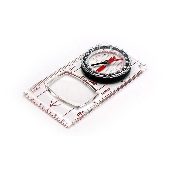 コンパス 方位磁石 方位磁針 ルーペ付 G-504 日本製 クリアー光学
