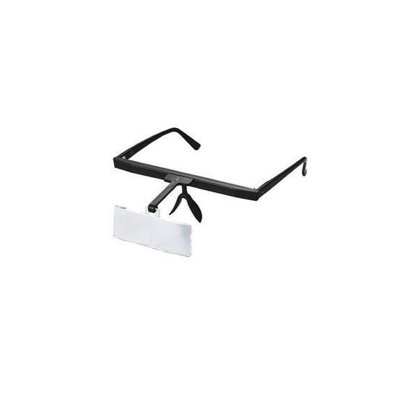 ルーペ おしゃれ メガネ型 双眼 拡大鏡 2.5倍 LH-21B 日本製 クリアー光学