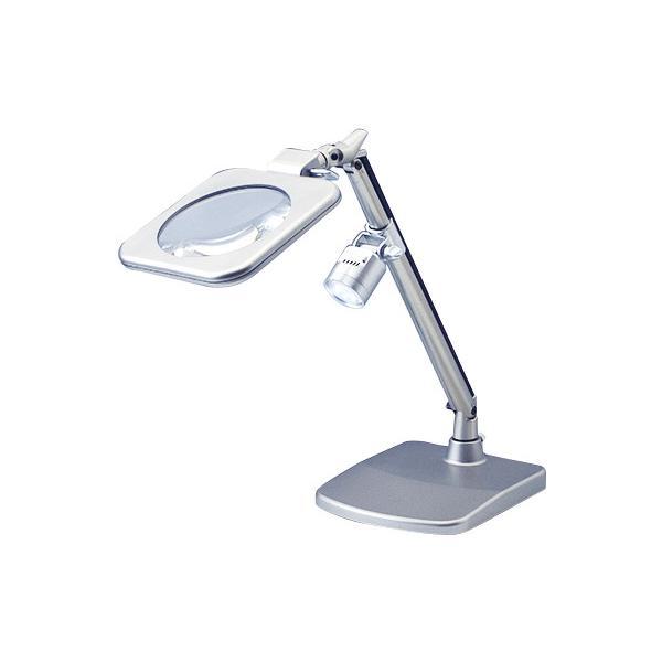 スタンドルーペ 拡大鏡 LEDライト付き 2倍 RX-120 日本製 クリアー光学