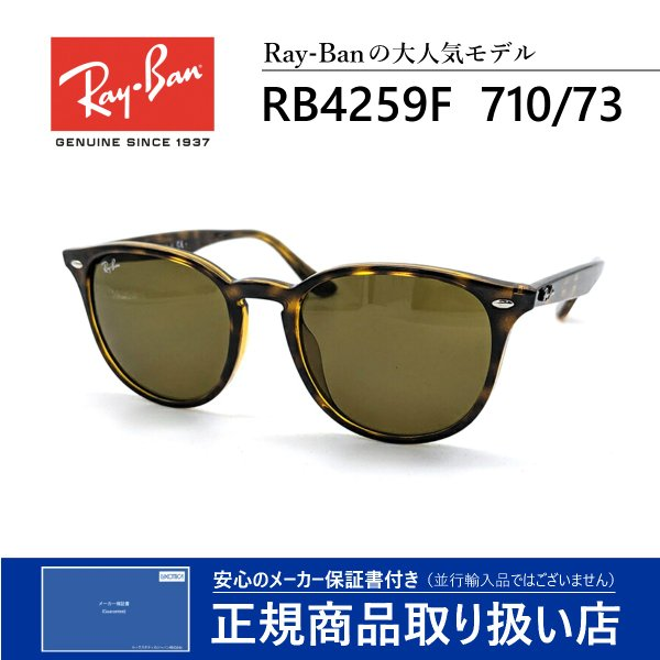 レイバン サングラス 人気 メンズ レディース ボストン ウェリントン 4259F 710/73 RayBan 正規品|eyeneed