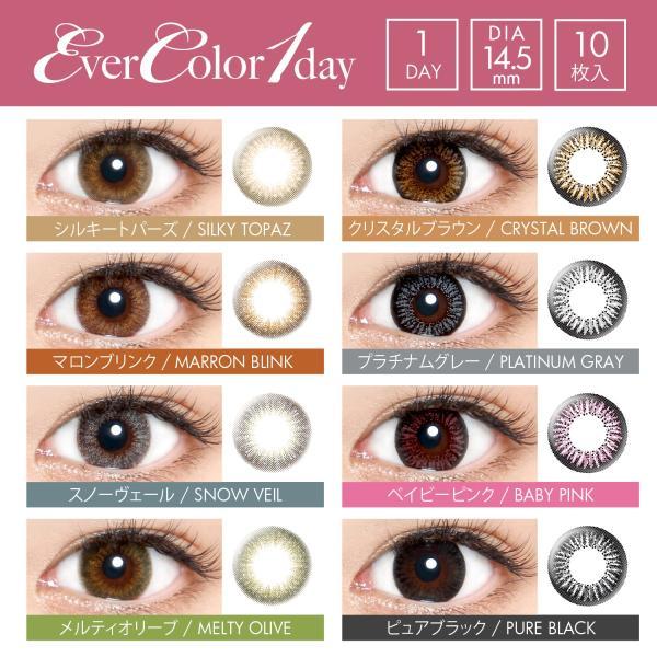 カラコン ワンデー エバーカラー  度あり 度なし ナチュラル 沢尻エリカ 1箱10枚 14.5 evercolor 1day カラーコンタクト|eyes-creation|10